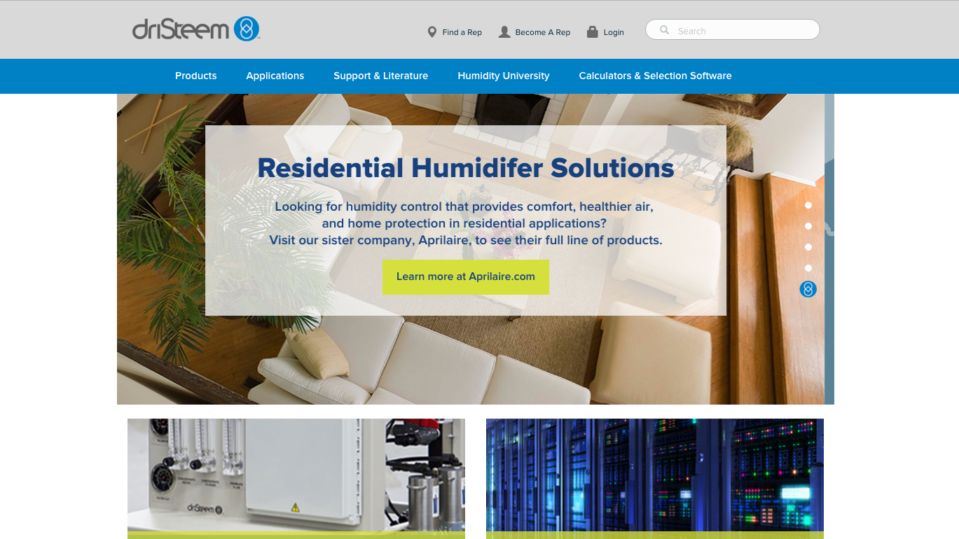 DriSteem website image